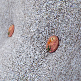 Vintage fabric buttons for armchair